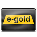 E, gold Black icon