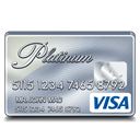 visa, platinum Black icon