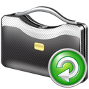 Briefcase, Reload DarkSlateGray icon