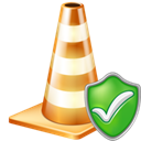 Check, cone Black icon