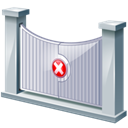 Entry, restricted Black icon
