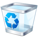 Bin, recycle Black icon