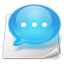 Comment, Chat, talk MediumTurquoise icon