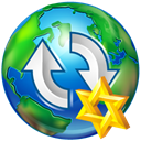 upload, star, world Black icon