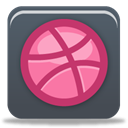 dribbble DarkSlateGray icon