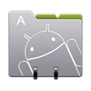 contacts, r, Android DarkGray icon