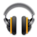 Android, r, music Black icon