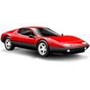 sports car, Car, small car, red, Ferrari Black icon