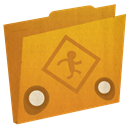 Folder, public Goldenrod icon
