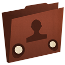 user, Folder SaddleBrown icon