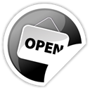 open Black icon