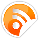 Orange, Rss Black icon