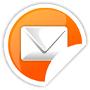 Orange, mail Black icon