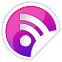 purple, Rss Black icon