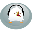 Headphones, twitter, bird DarkGray icon