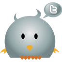 bird, twitter DarkGray icon