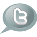 twitter, speech, Bubble DarkGray icon