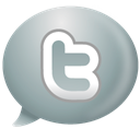 speech, twitter, Bubble DarkGray icon