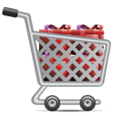 shopping cart Black icon