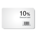 Discount card WhiteSmoke icon