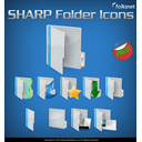 sharp, Folder, preview SteelBlue icon