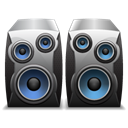 system, sound Black icon