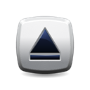 Eject, button Black icon