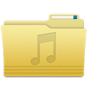 music, Folder Khaki icon
