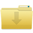 Folder, Downloads Khaki icon