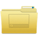 Desktop, Folder Khaki icon