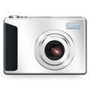 Camera, Pictures, Library Black icon