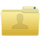 user, Folder Khaki icon