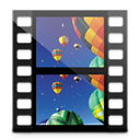 videos, Library Black icon