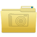 Pictures, Folder Khaki icon