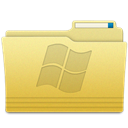 windows, Folder Khaki icon