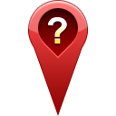 location, question, pin DarkRed icon