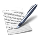 Wordpad Black icon