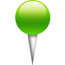 location, pin, green ForestGreen icon