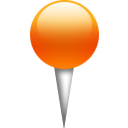 Orange, location, pin OrangeRed icon