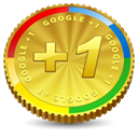 google, Google+, plus, +1, coin, One Goldenrod icon
