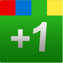 google, One, green, +1, plus, square, Google+ ForestGreen icon