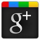 google plus, Google+ Black icon