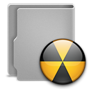 Burn, Folder DarkGray icon