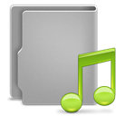 music DarkGray icon