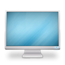 cinema, on, Display, Based SkyBlue icon