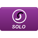 solo, curved Purple icon