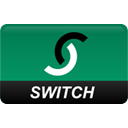 curved, switch Teal icon