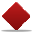 Game, diamond Firebrick icon