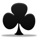 Clubs, Game Black icon