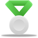 silver, metal, green Black icon